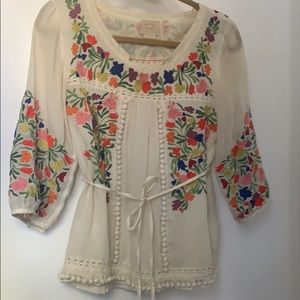 RARE Anthropologie Vanessa Virginia embroidered 2